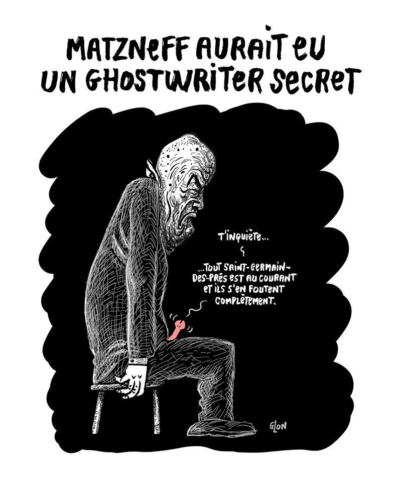 dessin humoristique de Glon sur le scandale Gabriel Matzneff