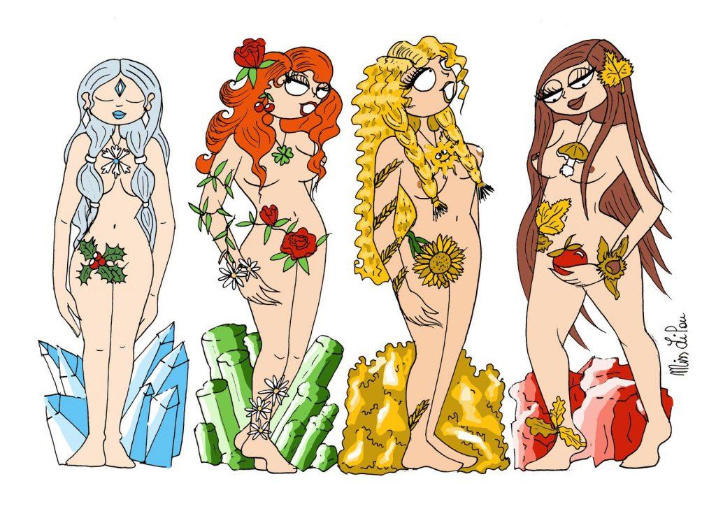 dessin de Miss Lilou sur la nouvelle année 2020