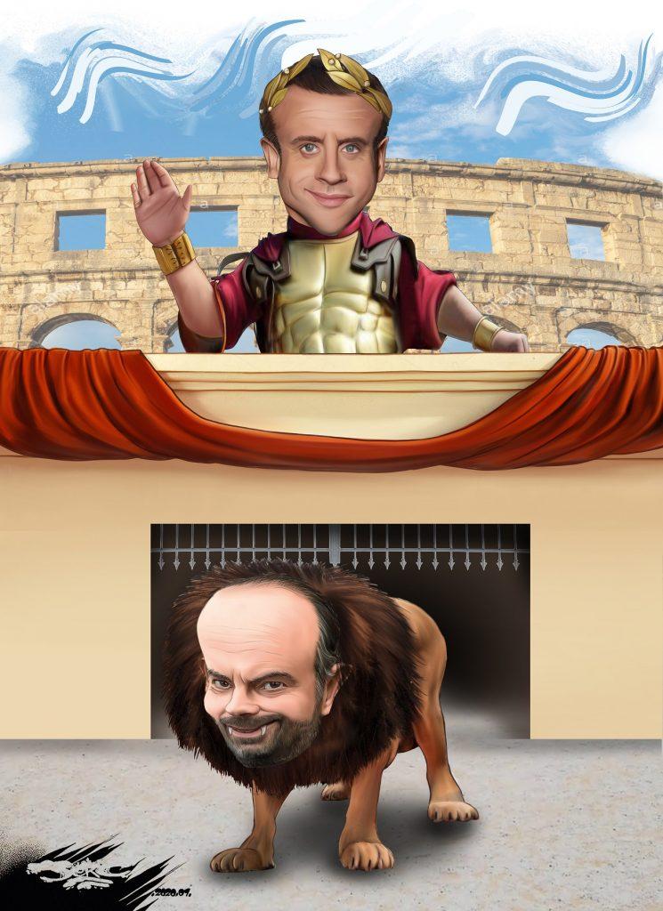 dessin d'actualité humoristique de Jerc sur la réforme des retraites et les jeux du cirque