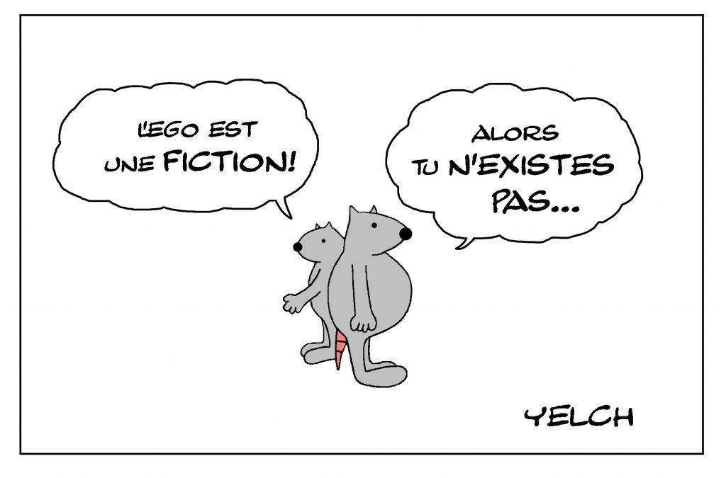 dessin de Yelch sur l'ego et la conscience de soi