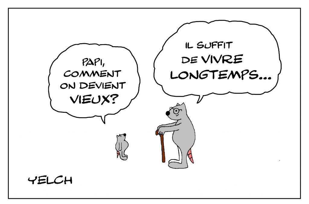 dessin de Yelch sur comment vivre vieux