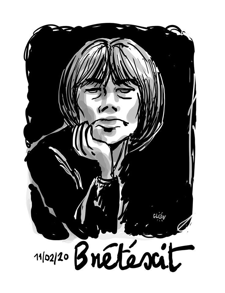 dessin humoristique de Glon sur la disparition de Claire Bretécher