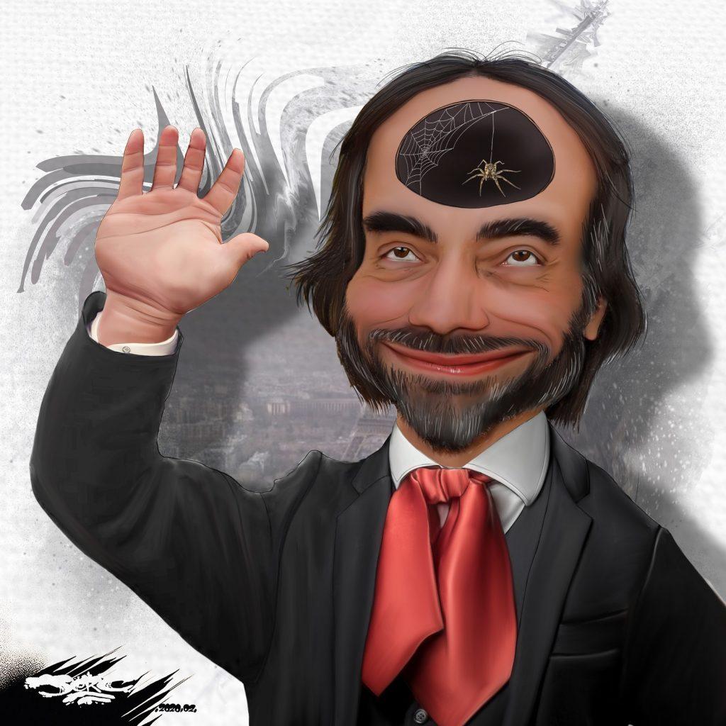 dessin d'actualité humoristique de Jerc sur la candidature de Cédric Villani à la mairie de Paris