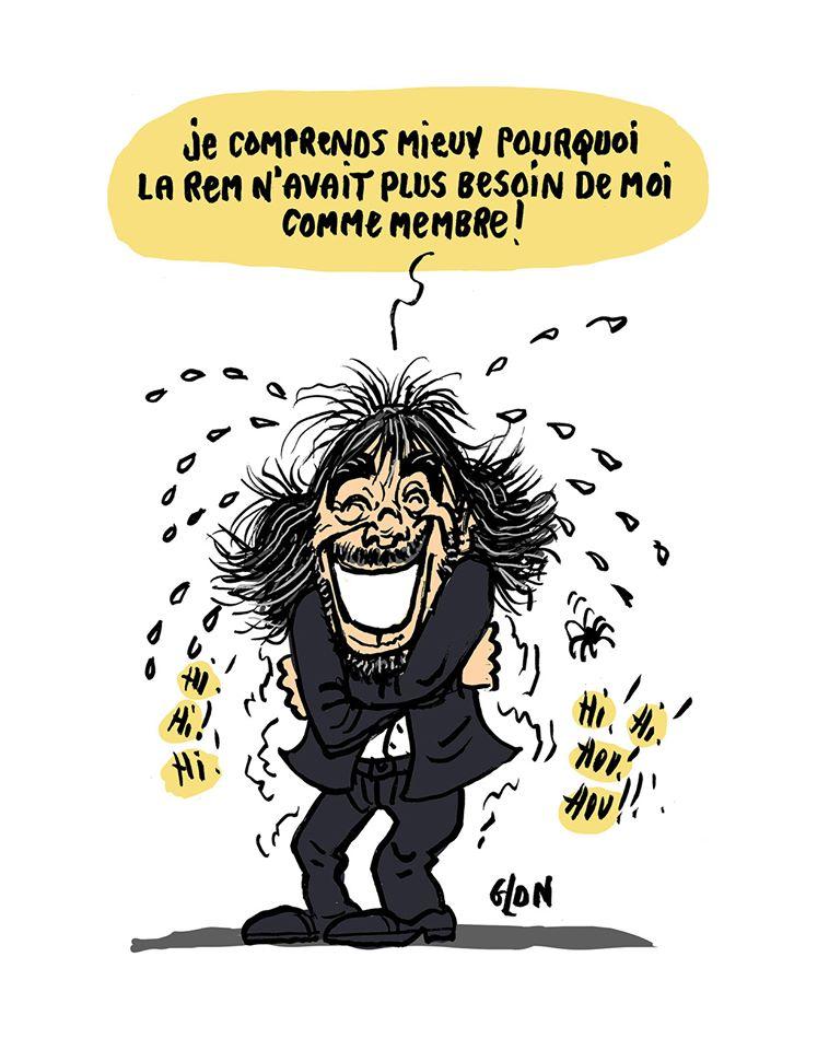 dessin humoristique de Glon sur la réaction de Cédric Villani après la démission de Benjamin Griveaux suite à la diffusion d'une vidéo sexuelle