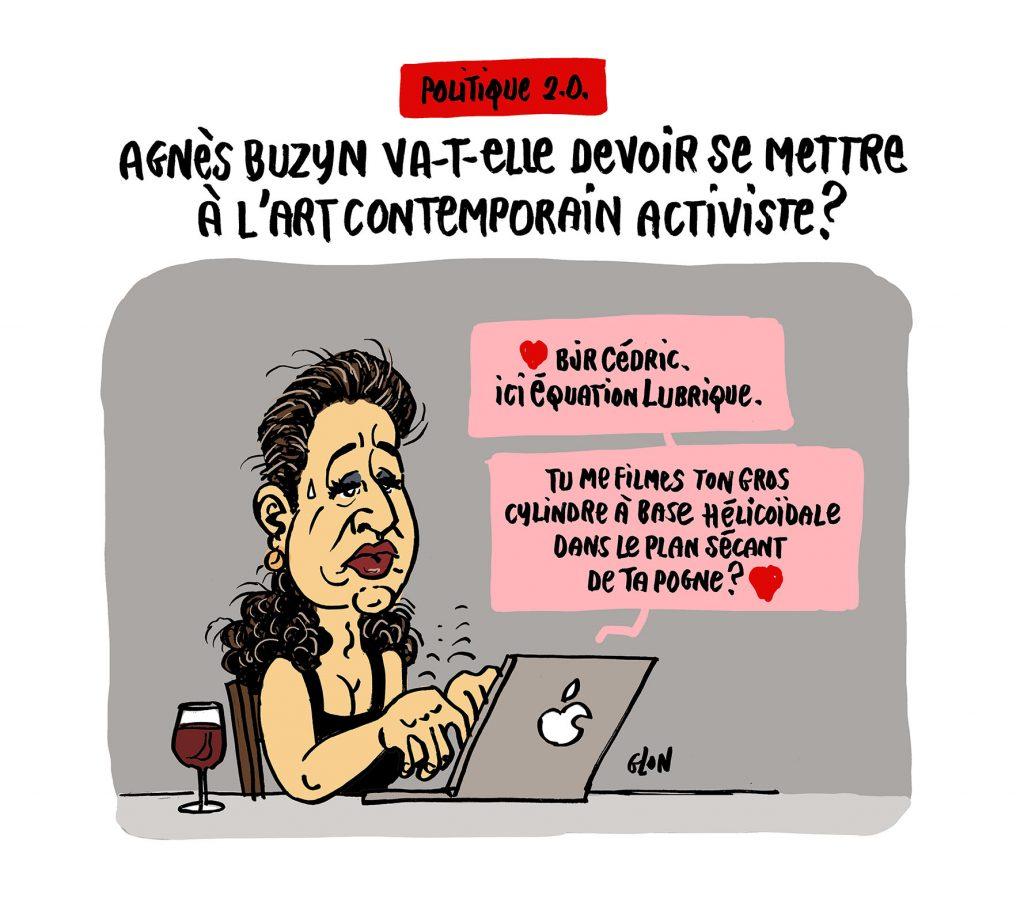 dessin humoristique de Glon sur la candidature d'Agnès Buzyn à la Mairie de Paris après la démission de Benjamin Griveaux