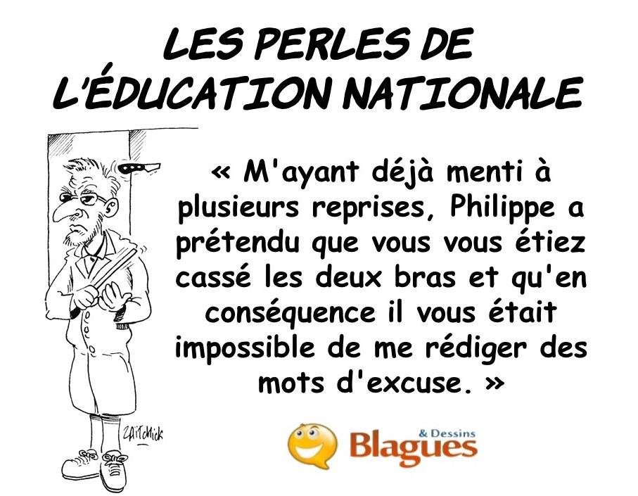 les perles de l'Éducation Nationale, les perles à l'école