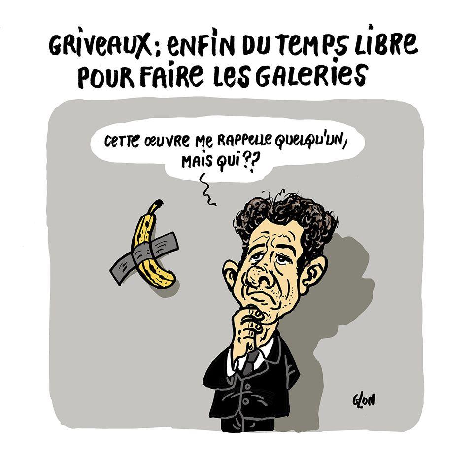 dessin humoristique de Glon sur le temps libre de Benjamin Griveaux après sa démission de Benjamin Griveaux suite à la diffusion d'une vidéo sexuelle