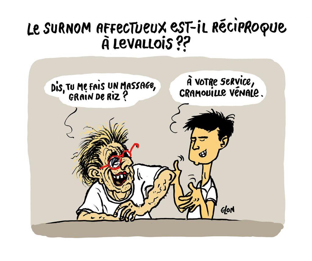 dessin humoristique de Glon sur le surnom donné par Isabelle Balkany à son employé cambodgien