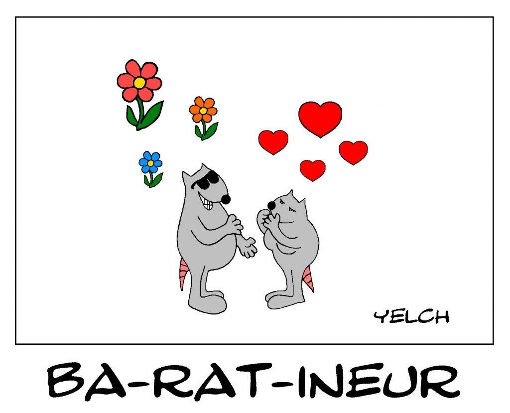 dessin de Yelch sur la drague et les baratineurs