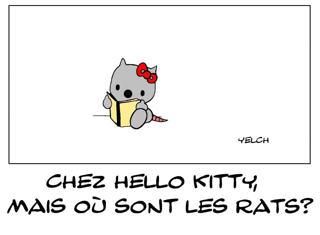 dessin de Yelch sur Hello Kitty