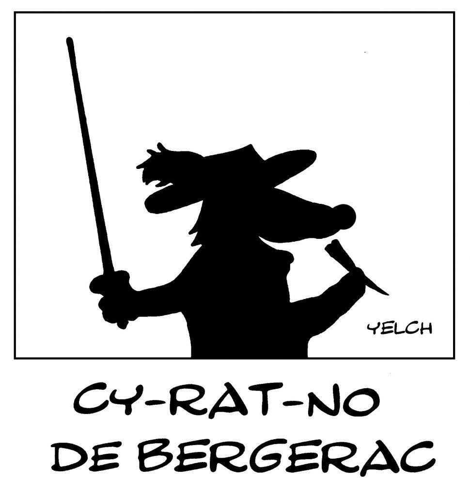 dessin de Yelch sur Cyrano de Bergerac, personnage de la pièce de théâtre d'Edmond Rostand