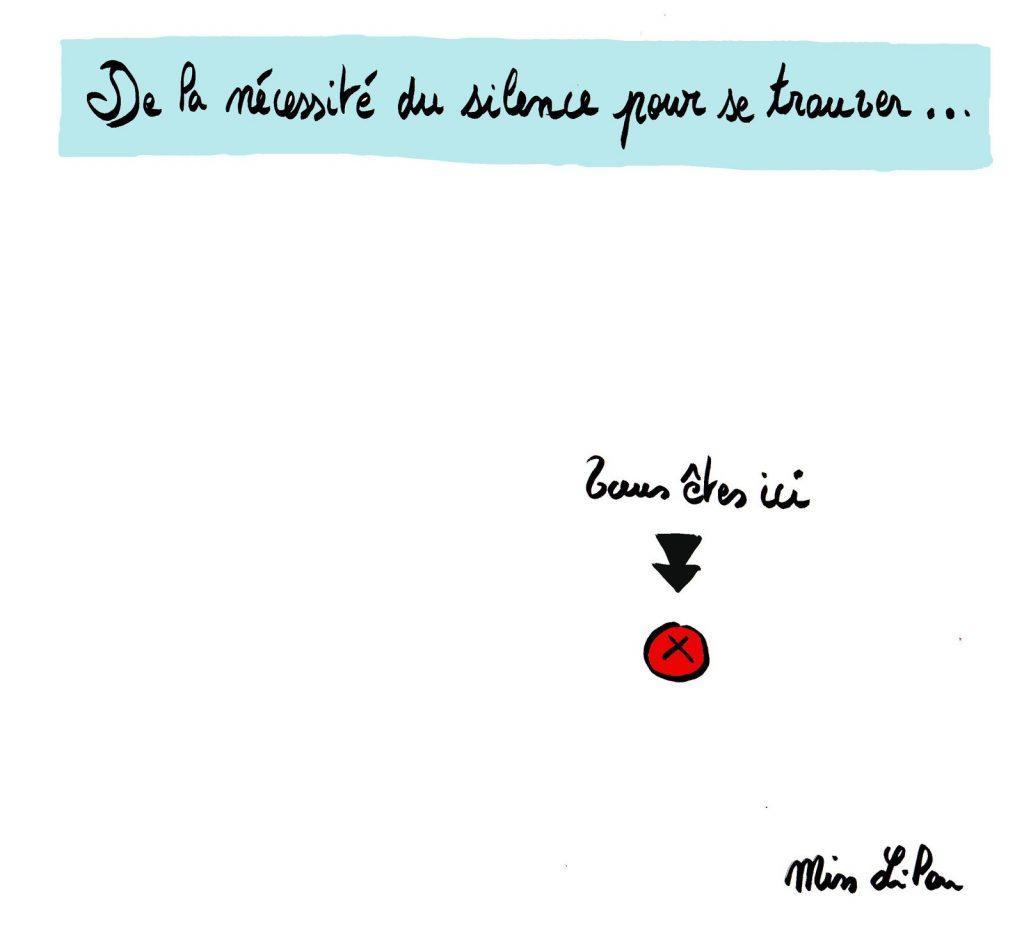dessin de Miss Lilou sur le silence et l'introspection