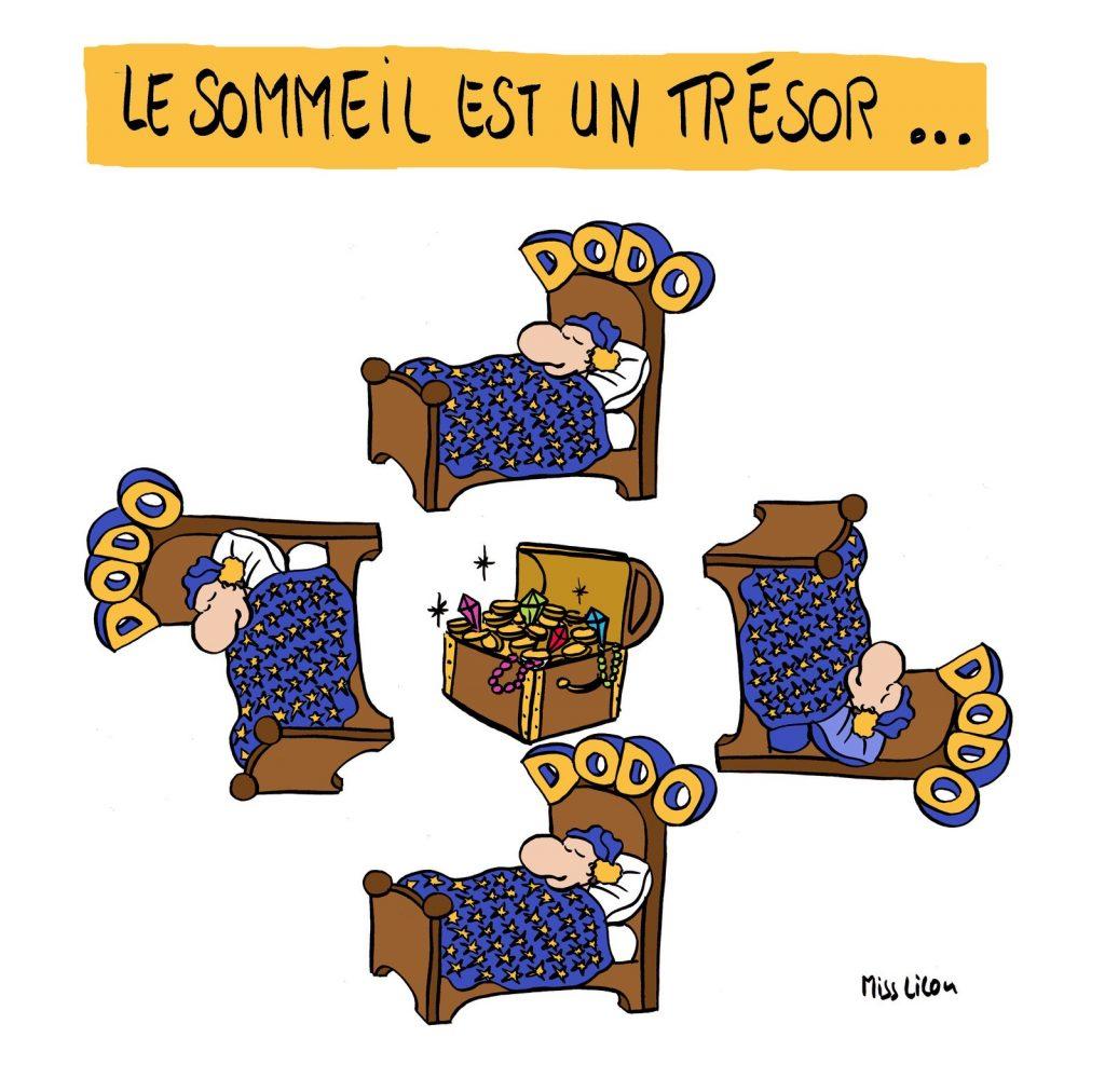 dessin de Miss Lilou sur l'importance du sommeil pour la santé