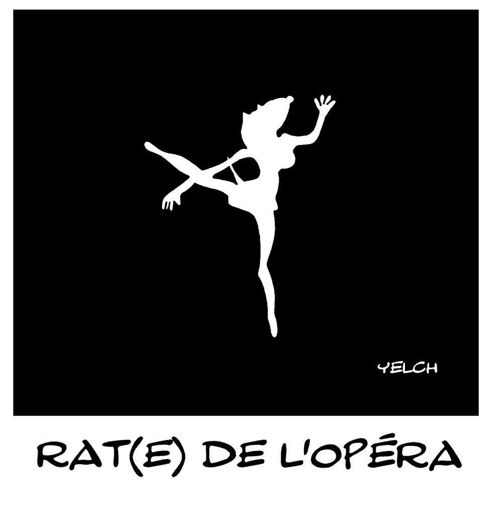 dessin de Yelch sur les danseuses de l'Opéra