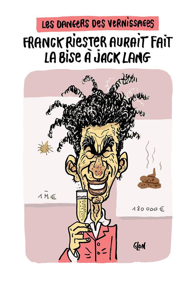 dessin humoristique de Glon sur l'épidémie de coronavirus Covid-19, Jack Lang et la contamination de Franck Riester