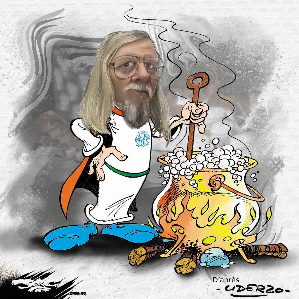 dessin d'actualité humoristique de Jerc sur l'épidémie de Covid-19 et le traitement à la chloroquine du professeur Raoult