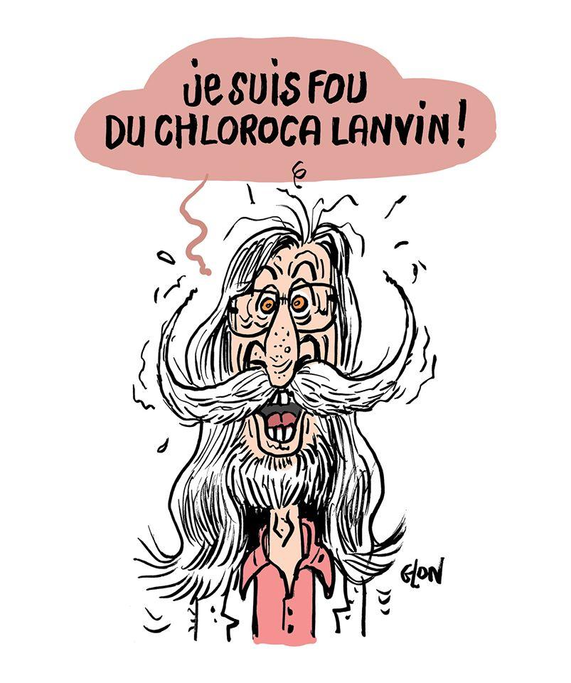 dessin humoristique de Glon sur l'épidémie de Covid-19 et le traitement à la chloroquine du professeur Raoult