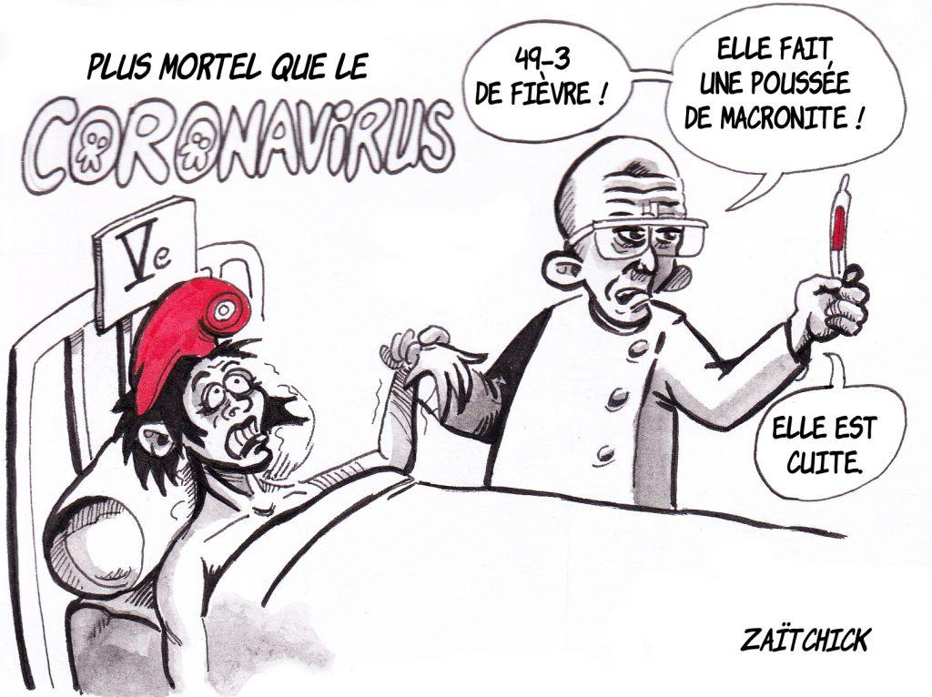 dessin humoristique de Zaïtchick sur l'usage du 49.3 par le gouvernement pour faire passer la réforme des retraites