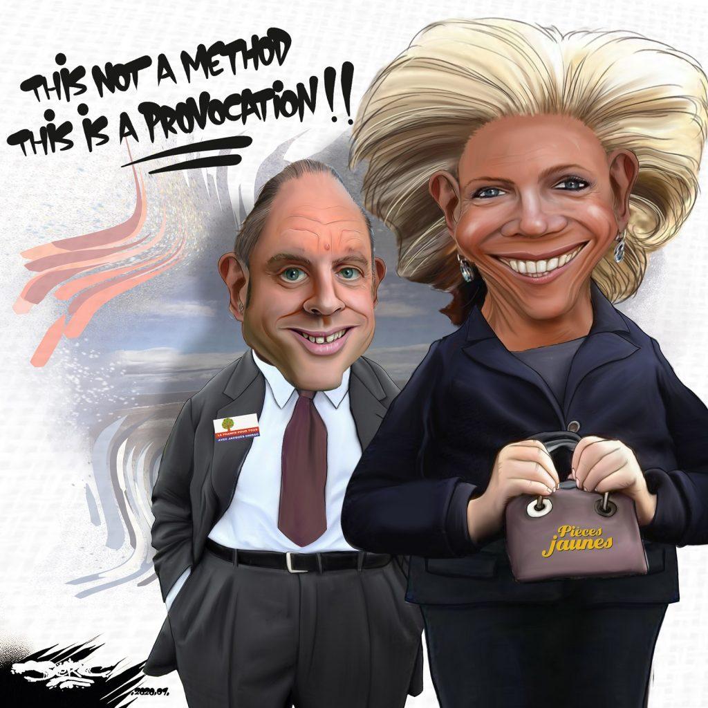 dessin d'actualité humoristique de Jerc sur Emmanuel et Brigitte Macron