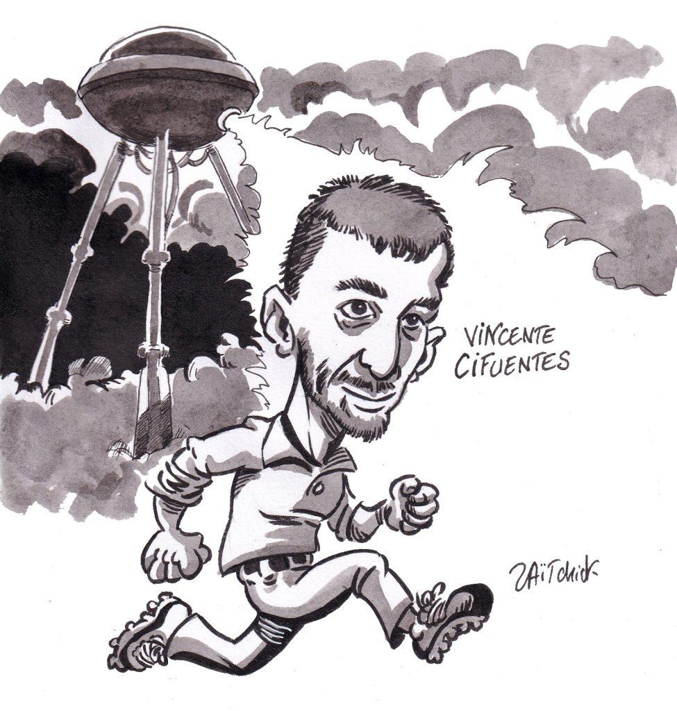 dessin de Zaïtchick sur la venue de Vincente Cifuentes à Clermont-Ferrand