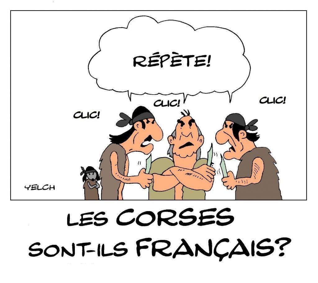 dessin de Yelch sur les Corses