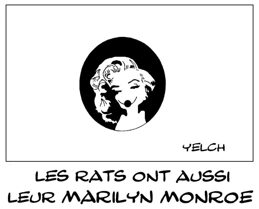 dessin de Yelch sur Marilyn Monroe