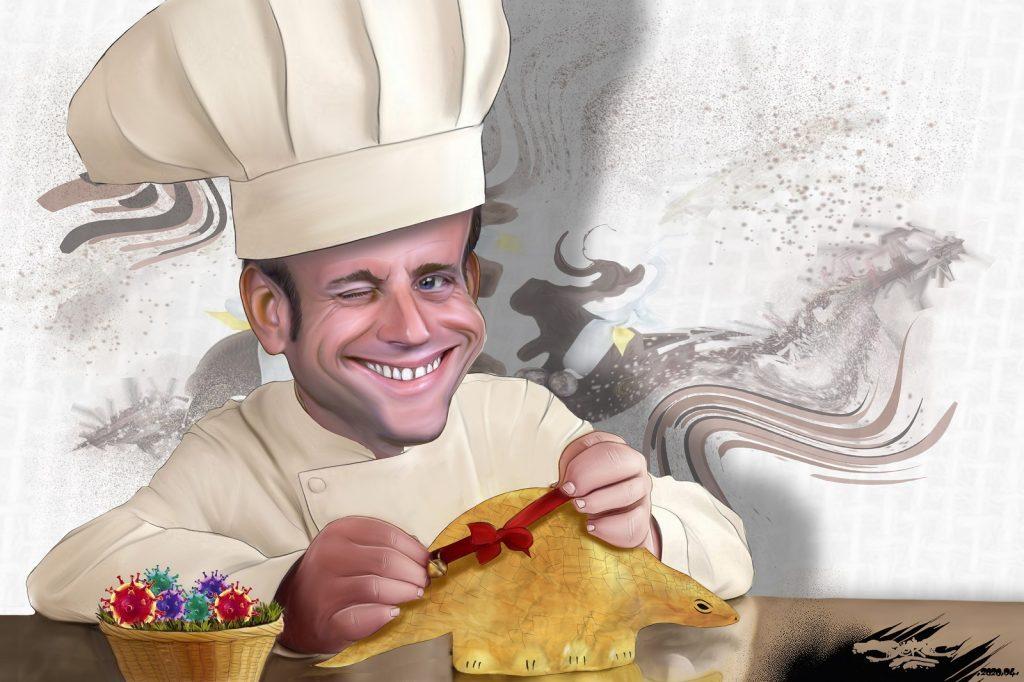 dessin d'actualité humoristique de Jerc sur l'épidémie de Covid-19 et la le discours de Pâques d'Emmanuel Macron