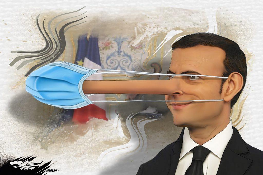 dessin d'actualité humoristique de Jerc sur l'épidémie de Covid-19 et le discours de Pâques d'Emmanuel Macron