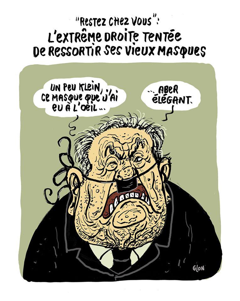 dessin humoristique de Glon sur l'épidémie de Covid-19 et l'extrême droite