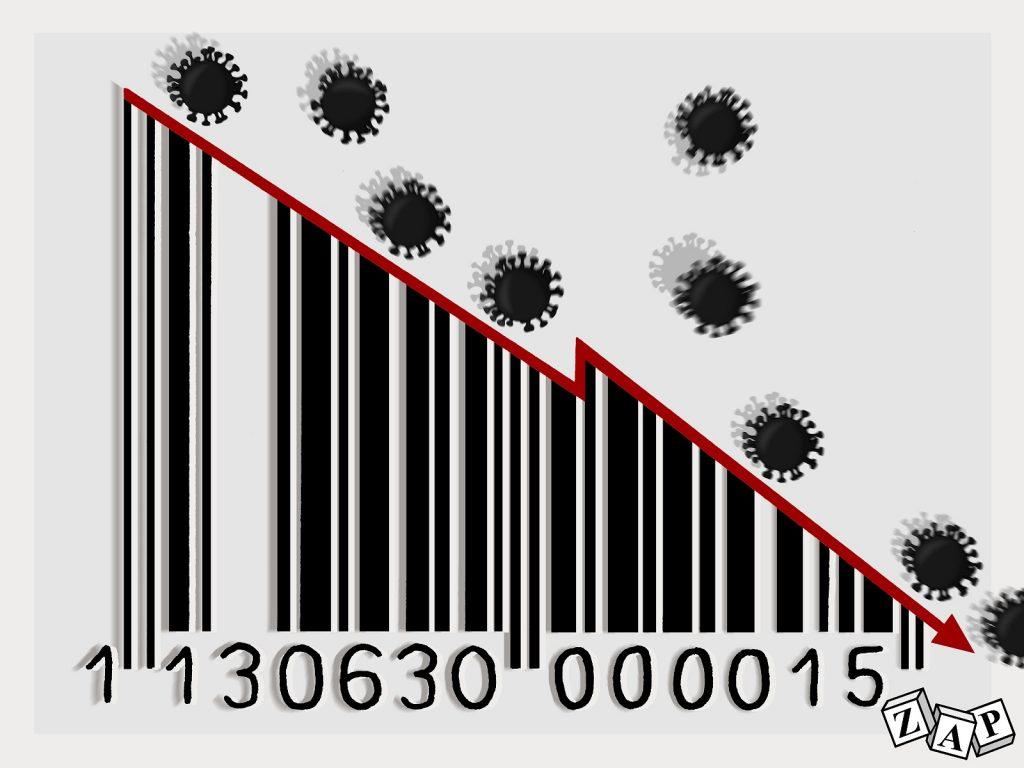 dessin d'actualité de Zap sur l'épidémie de coronavirus et la crise économique