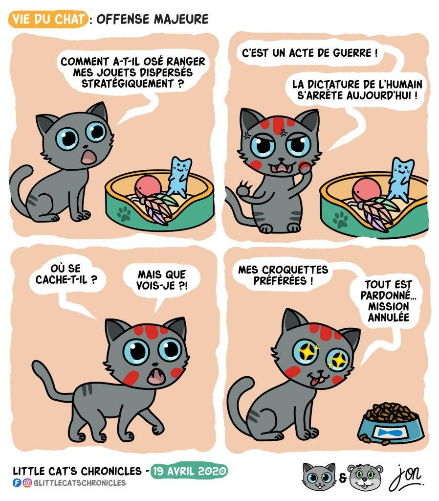 dessin humoristique des Little Cat's Chronicles sur la révolte contre les humains du petit chat