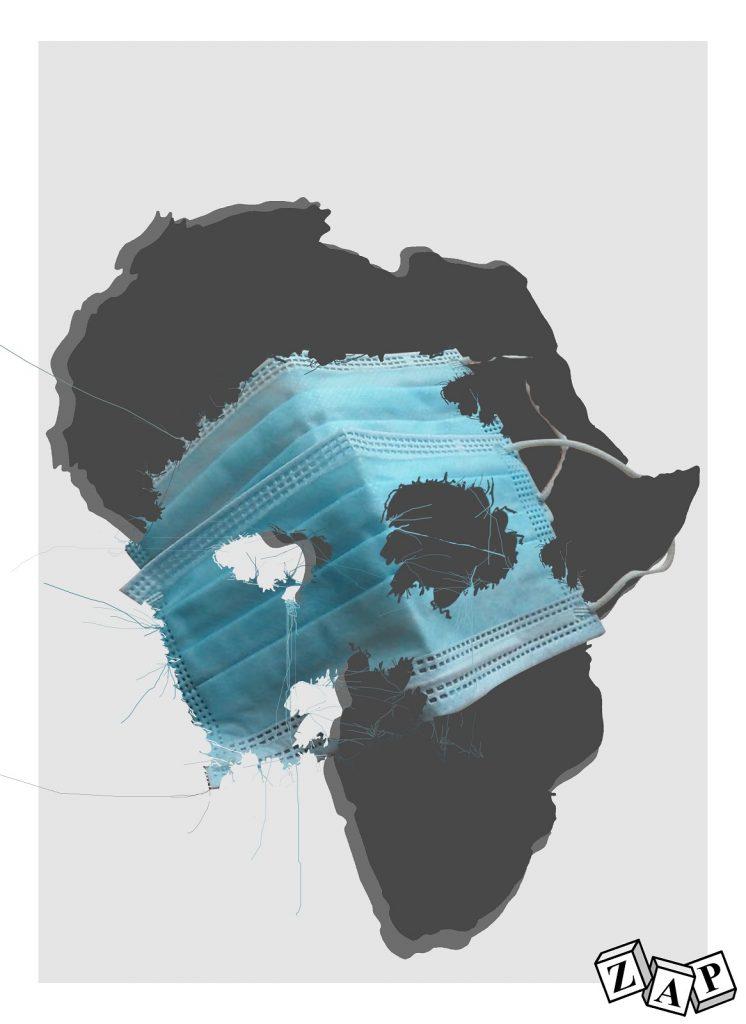 dessin d'actualité de Zap sur l'épidémie du Covid-19 en Afrique