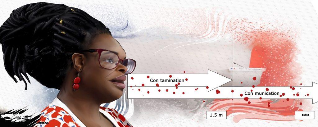dessin d'actualité humoristique de Jerc sur l'épidémie de Covid-19 et le discours de Sibeth Ndiaye, porte-parole du gouvernement