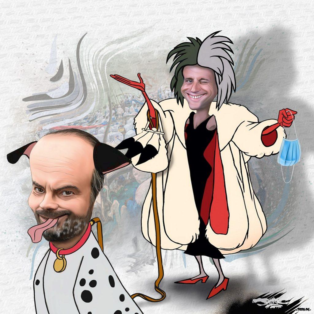 dessin d'actualité humoristique de Jerc sur l'épidémie de Covid-19 et la gestion gouvernementale des EHPAD