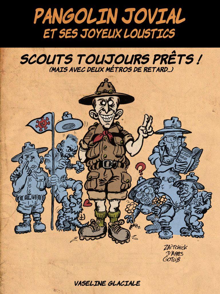 dessin de Zaïtchick sur l'épidémie de coronavirus et la gestion de crise par Emmanuel Macron et son gouvernement
