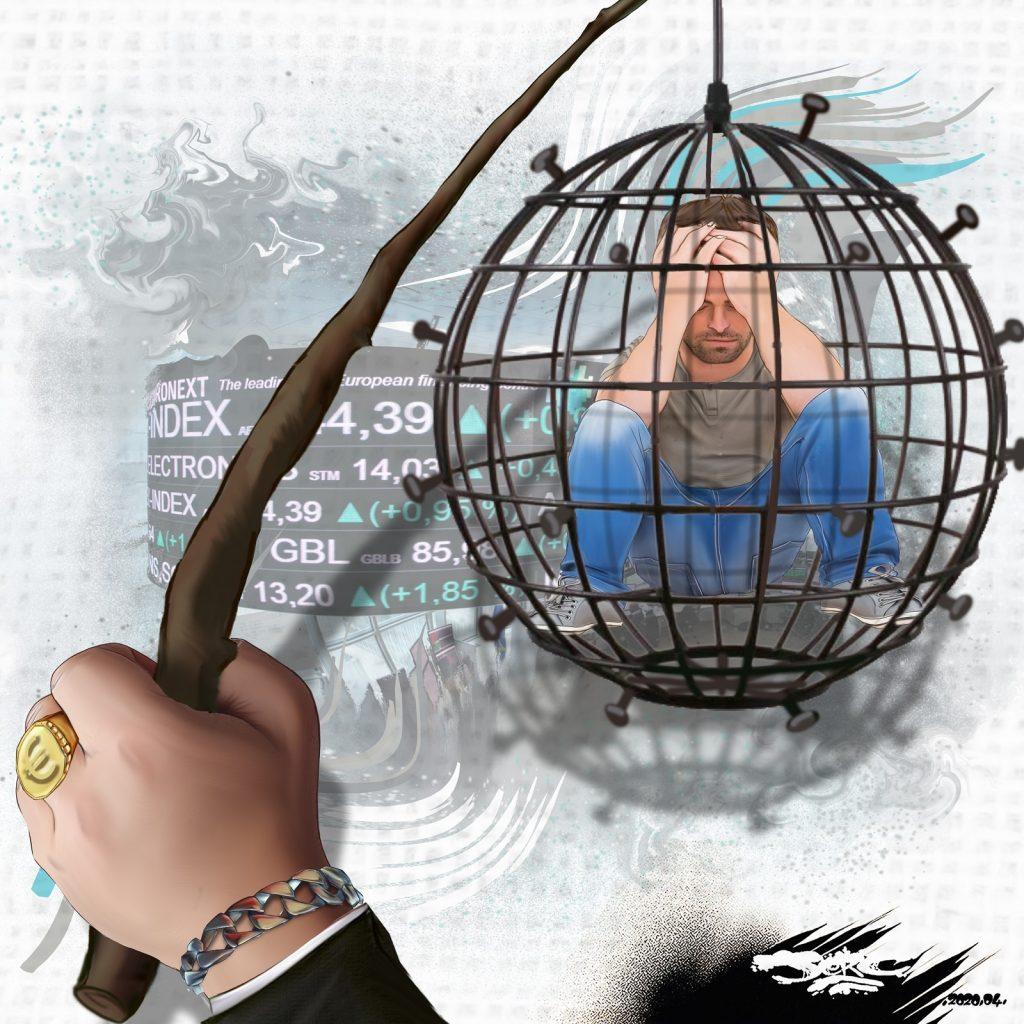 dessin d'actualité humoristique de Jerc sur l'épidémie de Covid-19 et le confinement