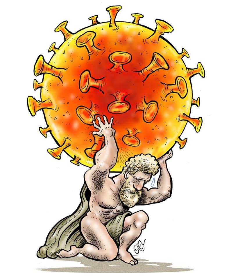 dessin humoristique de Glez sur l'épidémie de Covid-19 et le monde face au coronavirus