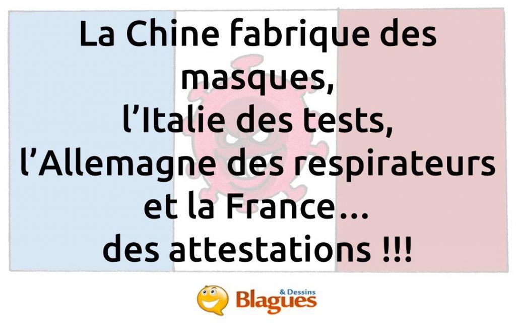 blague sur le coronavirus en France
