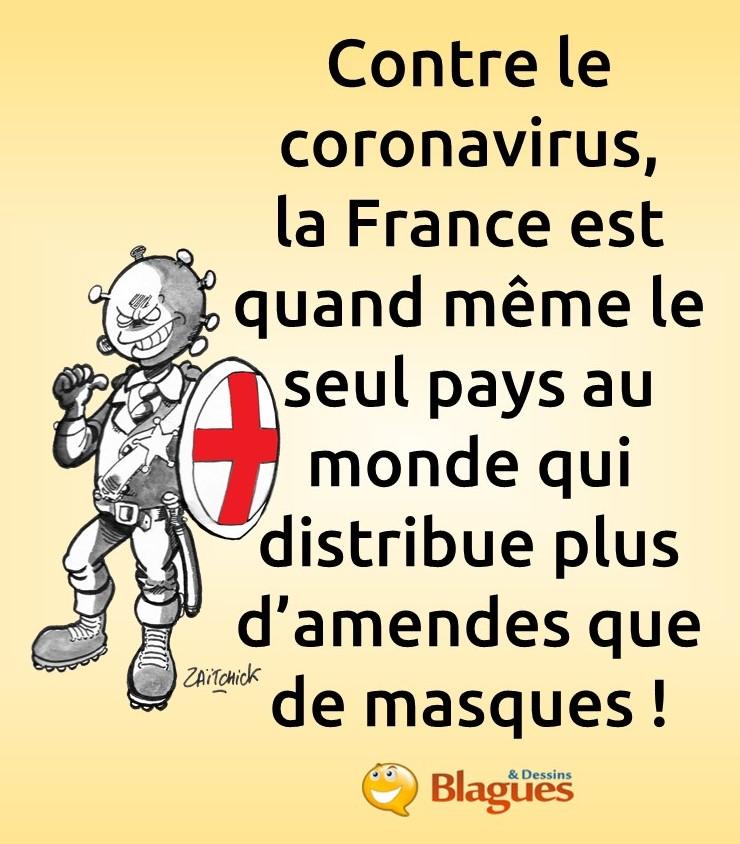 blague sur la lutte contre le coronavirus
