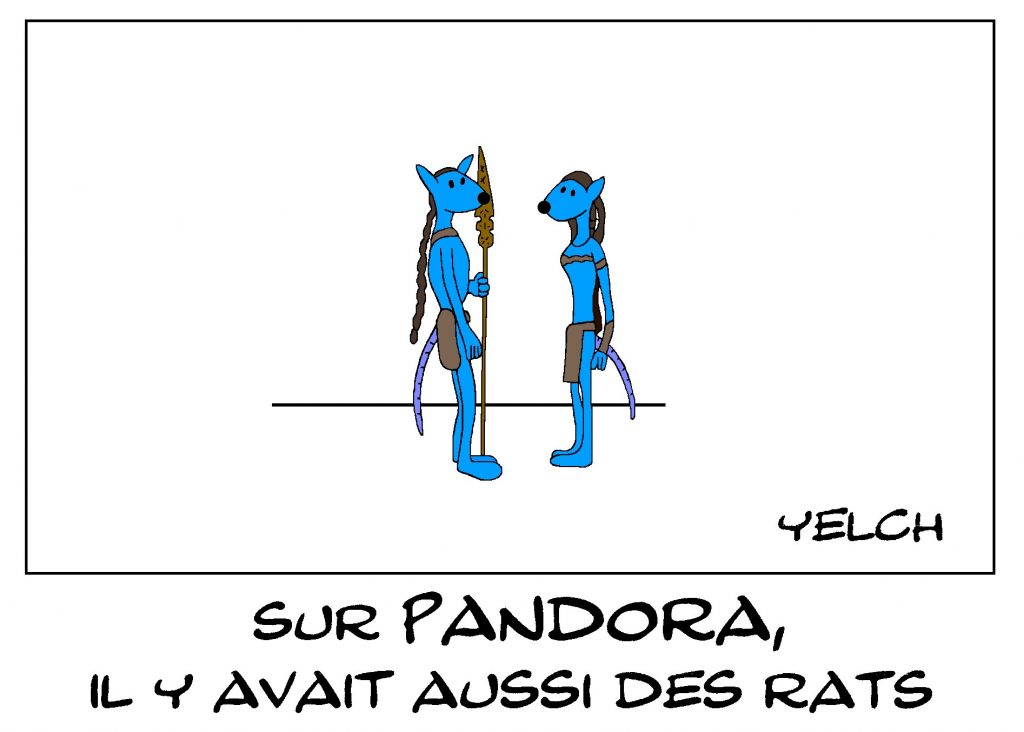 dessin de Yelch sur les rats d'Avatar