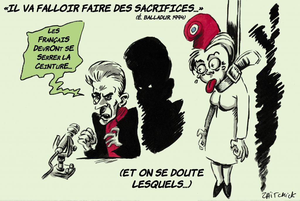dessin de Zaïtchick sur Christophe Barbier et le coût de la crise sanitaire
