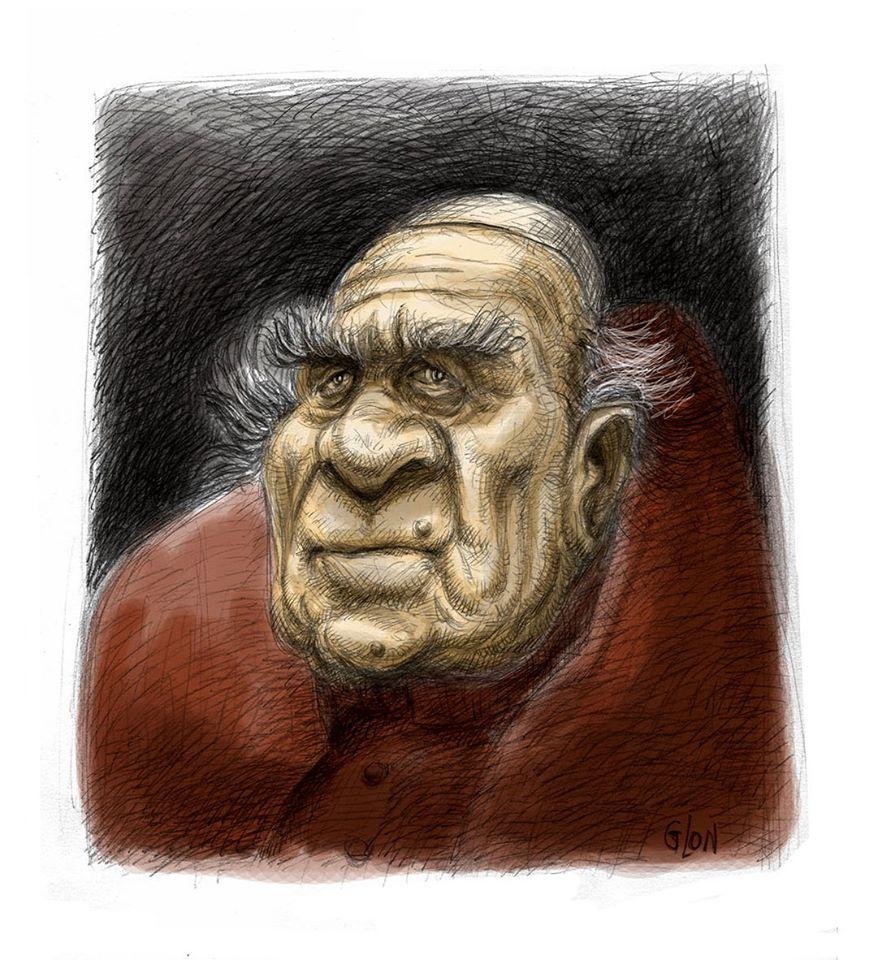 dessin humoristique de Glon sur le décès de Michel Piccoli