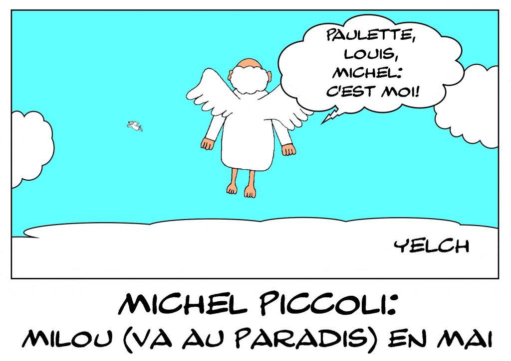 dessin de Yelch sur le décès de Michel Piccoli