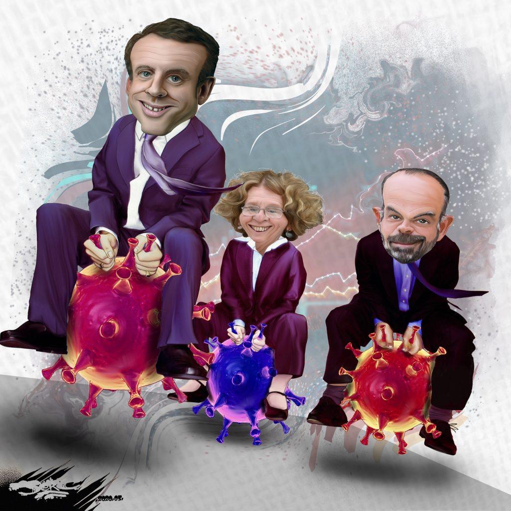 dessin d'actualité humoristique de Jerc sur la crise du coronavirus et la communication du gouvernement