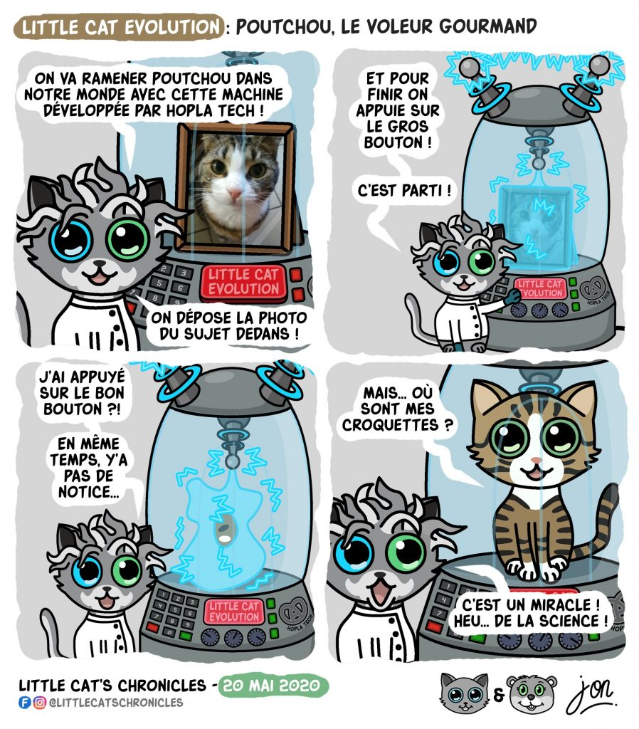 dessin humoristique des Little Cat's Chronicles sur la création d'un nouveau Little cat