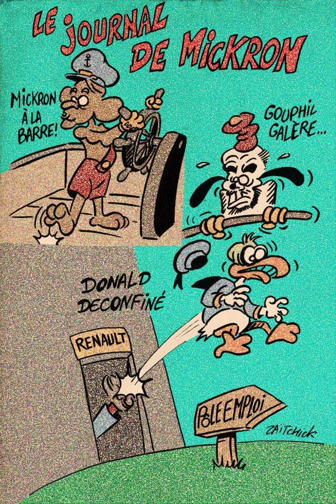 dessin de Zaïtchick sur le déconfinement et le gouvernement français