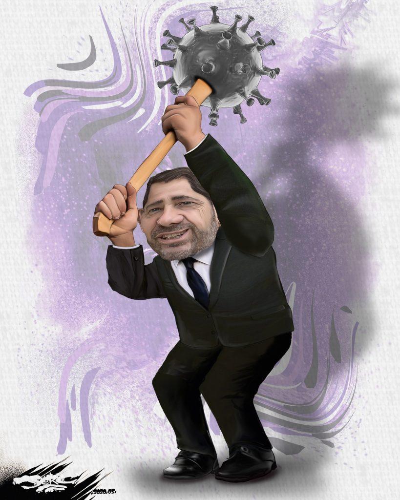 dessin d'actualité humoristique de Jerc sur la crise du coronavirus et Christophe Castaner
