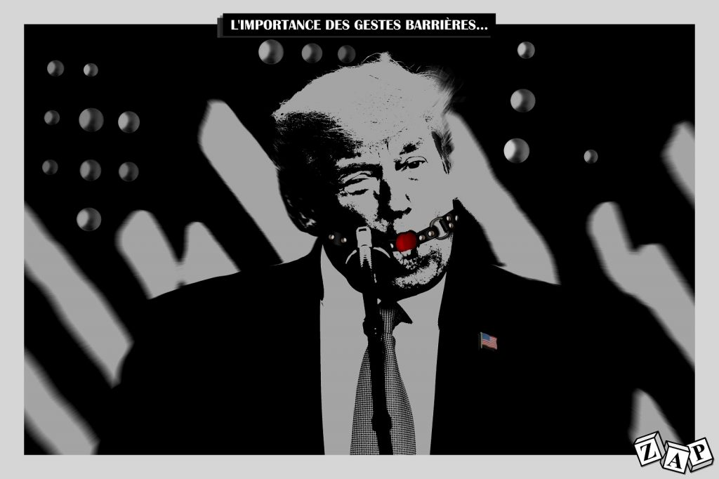 dessin d'actualité de Zap sur le coronavirus aux États-Unis et Donald Trump