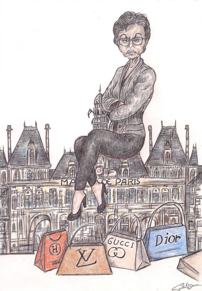 dessin d'actualité de Galy sur Rachida Dati et la course à la mairie de Paris aux élections municipales de 2020