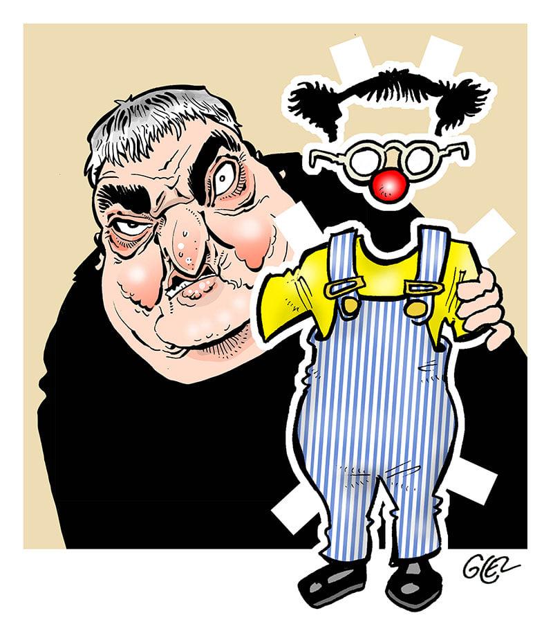 dessin humoristique de Glez sur la possible candidature de Jean-Marie Bigard à l'élection présidentielle de 2022